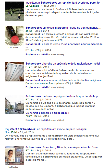 What Google says about Schaerbeek ... (04/08/2014)