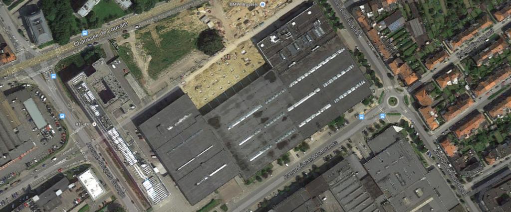 20.000 m² inutilisés, rue Georgin, à la limite entre Evere et Schaerbeek