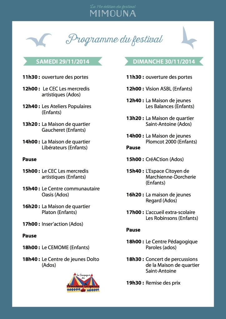 programme en bref mimouna 2014