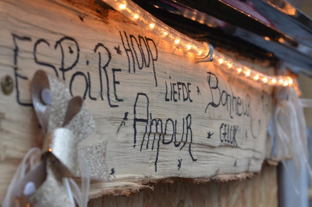 Inscription sur le frigo public du Boulevard Lambermont (Schaerbeek)