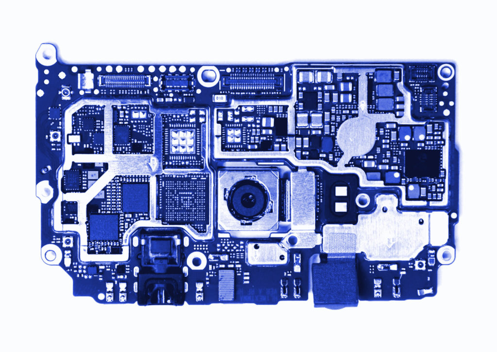 Carte mère du Huawei P9 (CC-BY-SA)